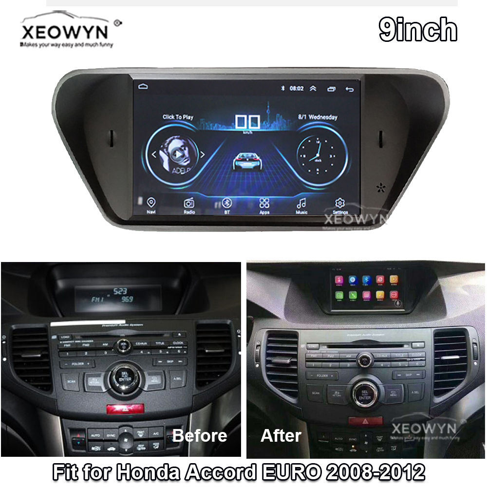 Android <font><b>8</b></font>.1 ROM32GB Quad core for <font><b>honda</b></font> <font><b>Accord</b></font> <font><b>8</b></font> corsstour Europe 2008-2013 Car radio GPS Navigation Player Radio Multimedia HD image