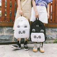 Ulzzang Cute Panda Cute Bag Schoolbag Teenage Girl Backpacks Campus Knapsack Travel Mochilas Cartoon Korean Backpack Fashion