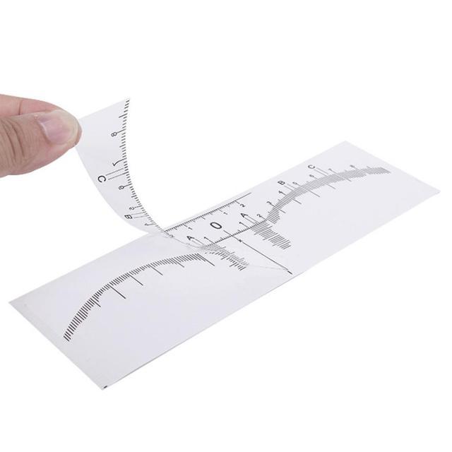 50PCS Plastic Eyebrow Stencils One-time Microblading Makeup Brow Measure Eyebrow Guide Ruler Permanent Tools 5U922 2