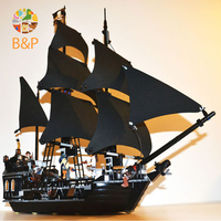 Lepin 16006 804pcs Building Bricks Pirates Of The Caribbean The Black Pearl Ship Model Toys Gift