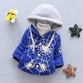 Outono Novo Bebê do Menino Casaco de Inverno Espessamento E Reunindo Algodão-acolchoado Jacket 1-3 Anos de Idade Inverno jaquetas Meninos