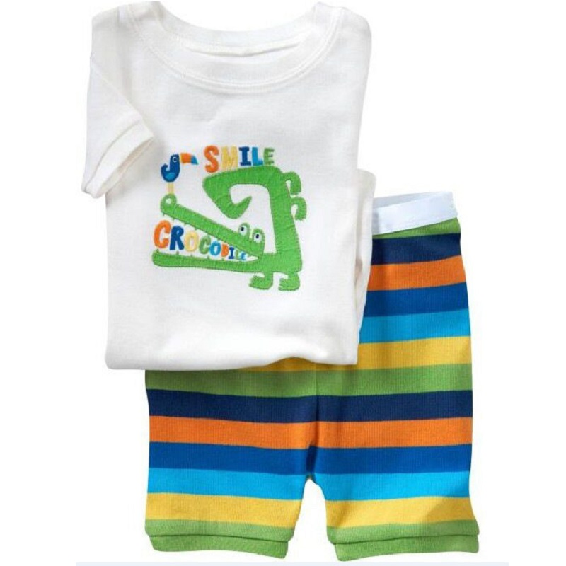 Robots Children Pajamas Sets Summer Short Pyjamas Boys clothes Pijama Suit Girls Sleepwear Nightgown Cotton T-Shirt Pants 2