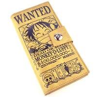 ONE PIECE Monkey D Luffy PU Cosplay Long Wallet Purse Carteira Cartoon Unisex Card Holder Wallets