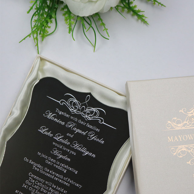 Online shop 30 personalized luxury customized acrylic wedding 30 personalized luxury customized acrylic wedding invitation cards for free laser engravedparty invitations and boxes stopboris Gallery