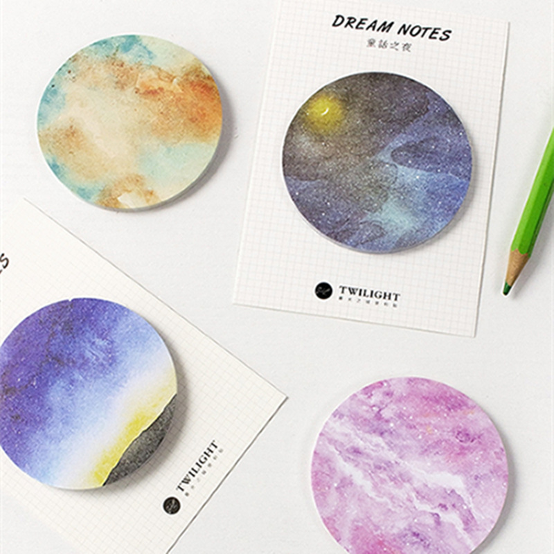 8 pcs/Lot Dream memo pad 30 sheet Star planet sticky note Post sticker Stationery Office accessories School supplies FM665