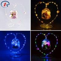 ZjRight NEW Christmas Decoration Glass Colorful LED Light String Interior Fragrance Eternal Flower Holiday Kid S