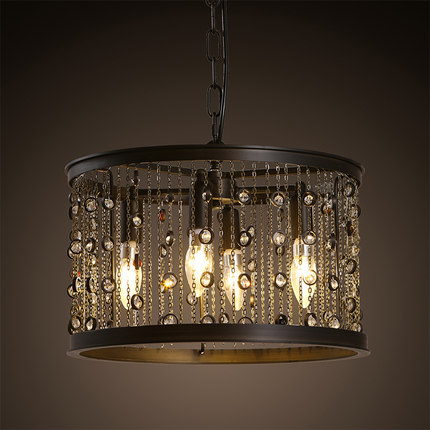 American Creative Droplight Crystal Pendant Lamp Fixtures For Dining Room Industrial Loft Style Hanging Lights Indoor Lighting a1 master bedroom living room lamp crystal pendant lights dining room lamp european style dual use fashion pendant lamps