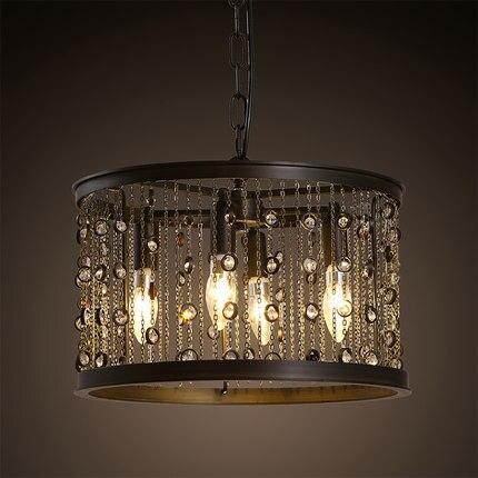 Amerikanischen Kreative Drop Kristall Pendelleuchte Leuchten Für Esszimmer  Industriellen Loft Stil Hängen Innenbeleuchtung