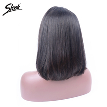 Sleek Short Lace Front Human Hair Wigs For Black Women Remy Glueless Brazilian Straight Half Bob Wig Perruque Cheveux Humain