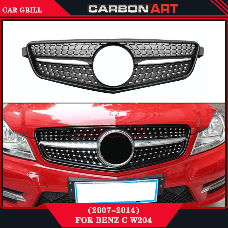 Diamond auto bumper replacement parts front grill mesh for for Mercedes benz spare parts price list