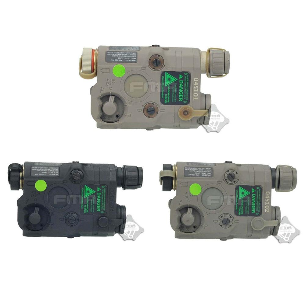 FMA Tactical Military PEQ15 Upgrade Version LED White light Green laser with IR Lenses BK DE