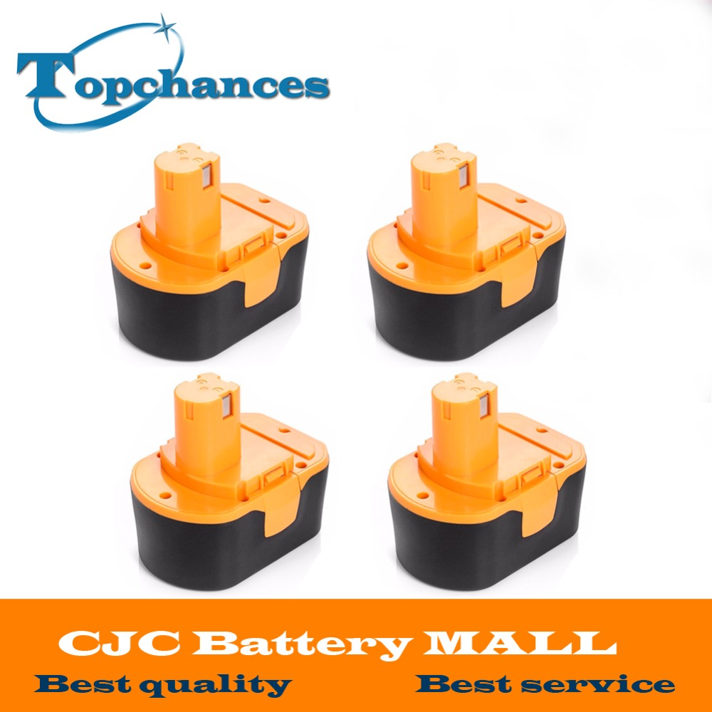 4PCS High Quality <font><b>14.4V</b></font> 2000mAh NI-CD Power Tool Battery For RYOBI 130281002 RY62 RY6200 RY6201 RY6202 STPP-1441 14.4 Volt image