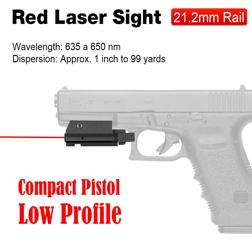 PPT Hot Koop Pistol 20mm Montage Rode Laser Zicht Rode Laser Pointer Rode Laser Voor Picatinny Rail gs20-0015