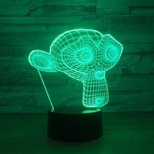 3D светодиодные Monkey Маска модели игрушки интерьера модель с LED кулон подарок коллекция