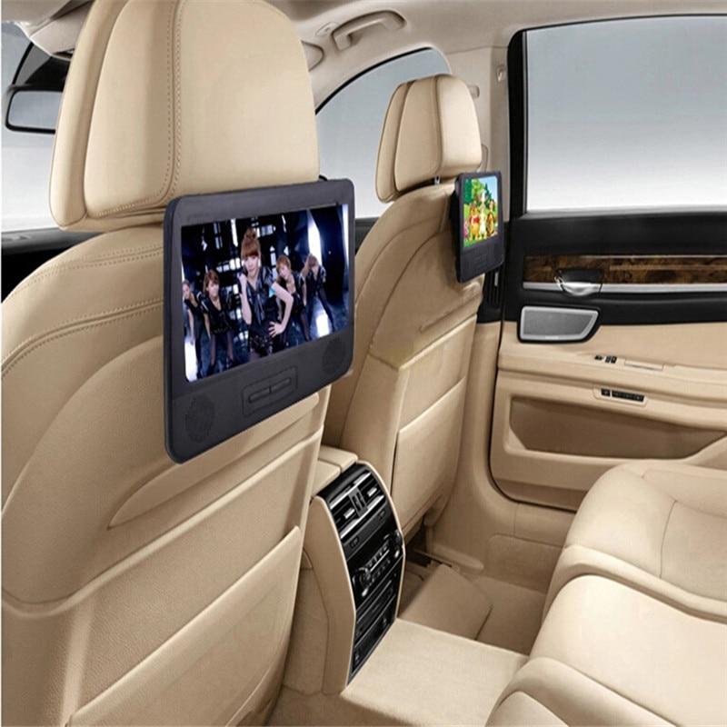 Best price BLACK 7 8 font b Car b font DVD PLAYER With 2 Screen USB