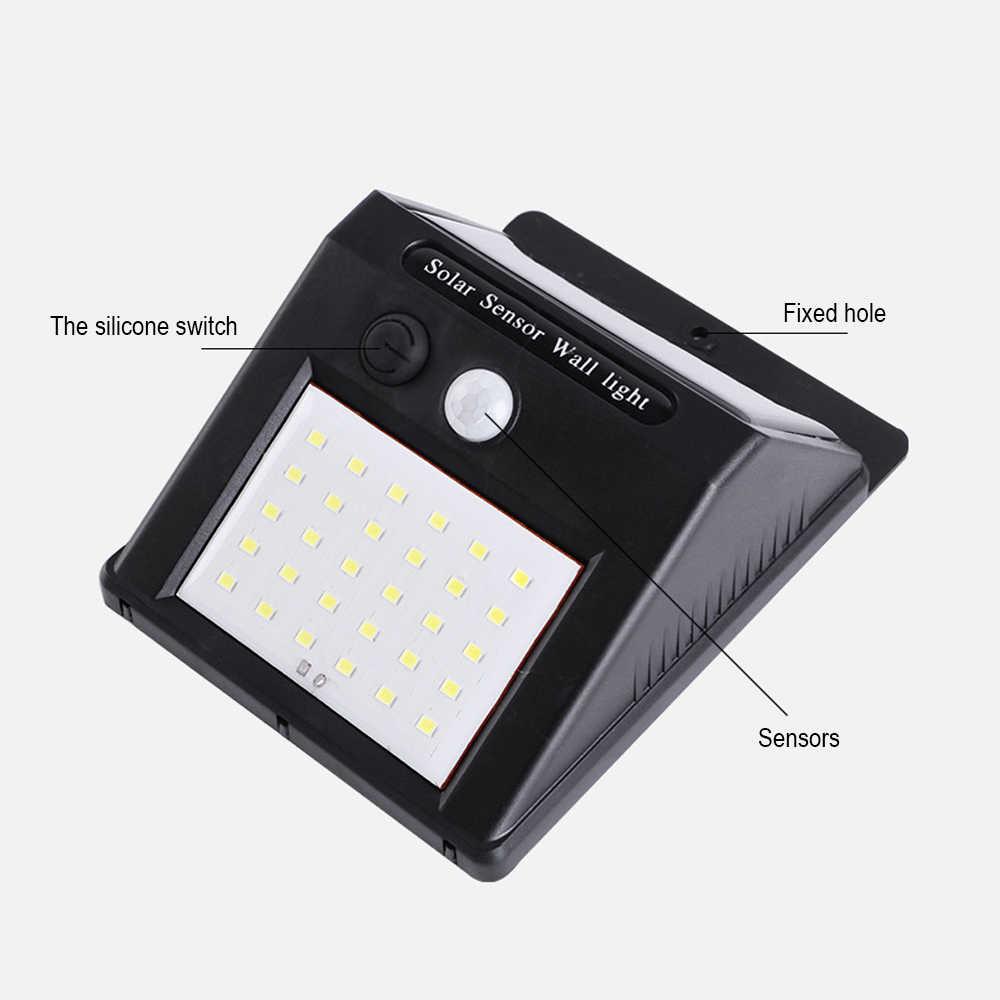 4 шт. 30/118 светодиодный светильник на солнечных батареях PIR датчик движения перезаряжаемый путь Солнечный настенный светильник водонепроницаемый открытый сад лампы для двора