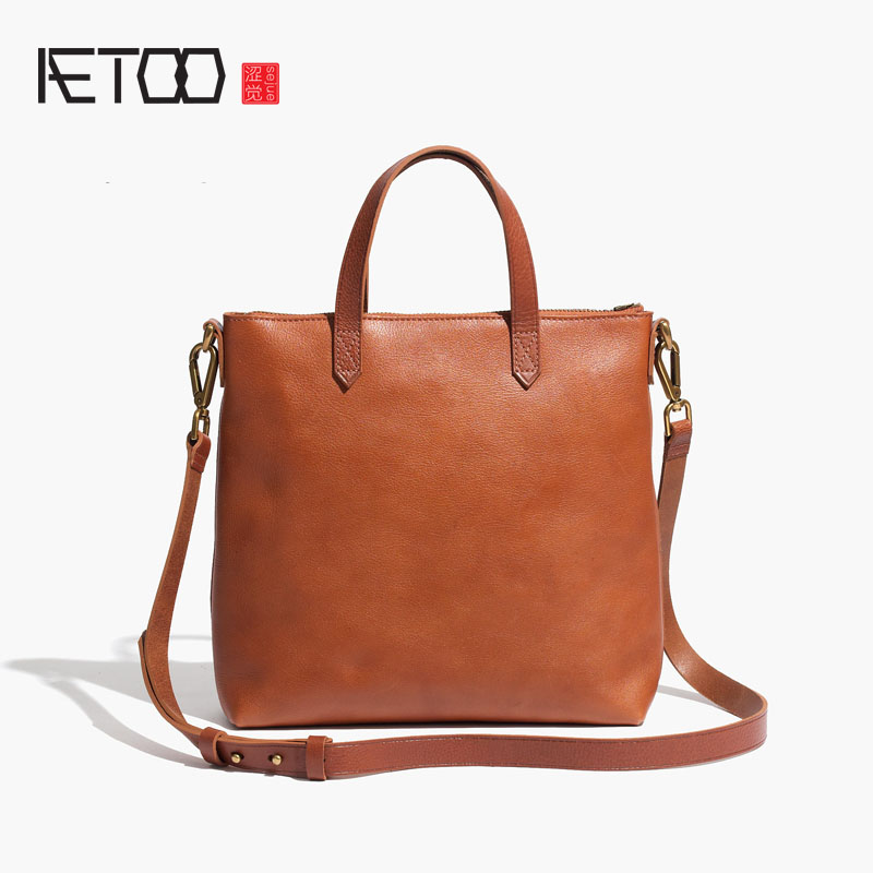 AETOO Euramerican fashion Casual leather handbag first layer leather shoulder bag ladies portable oblique shoulder bagAETOO Euramerican fashion Casual leather handbag first layer leather shoulder bag ladies portable oblique shoulder bag
