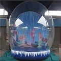 inflatable snowflake ball or inflatable Snowdome 3 M diameter Cartoon background exhibition start business  indispensable