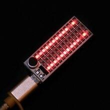 USB мини музыкальный спектральный светильник 2x13 светодиодный голосовой контроль чувствительность регулировка