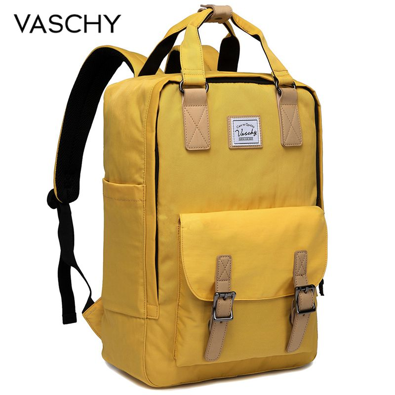 VASCHY Women Backpack Casual 15 Inch Laptop Backpack For Women Water Resistant Designer Top Quality Rucksack School Knapsack