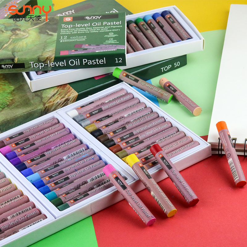 12/18/36/50 Colors Top Level Pastel Chalks Oil Painting Stick Crayon Graffiti Pen  Pastel Colors