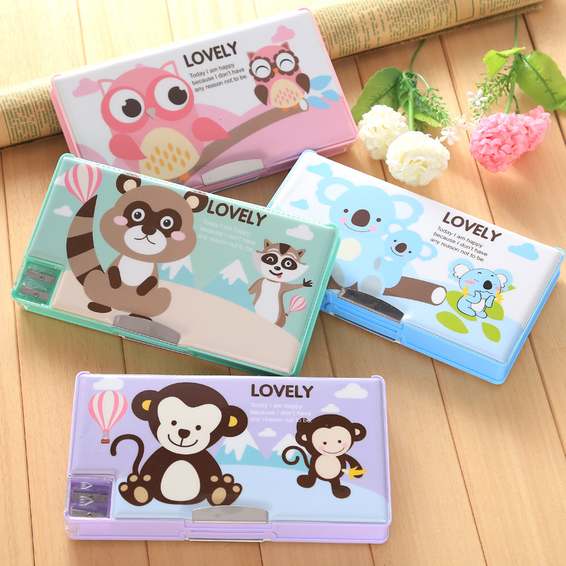 Multifunction double pencil case pencil box children's stationery box super large capacity stationery bags box BH01 220803 eva large capacity stationery bags men and women primary school students pencil box wholesale stationery box