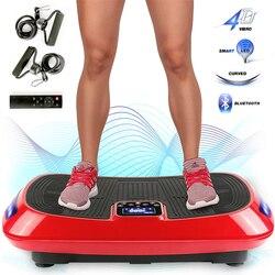 Fitness Slimm Trillingen Machine Spier Trainer Platform vibranter Oefening Body Shaper met Weerstand Bands + Licht strip HWC
