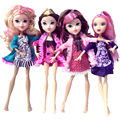 New Arrival 1 Pcs 6 Colors 9' Fashion Pretty High Senior School Dress Cloth For Barbies Girl Birthday Christmas Gift