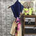2016 New Women Long Scarf Silk Cotton Soft Fashion Shawl Wrap  Stole Retro Print Butterfly Print Beach Scarf 90cm*180cm