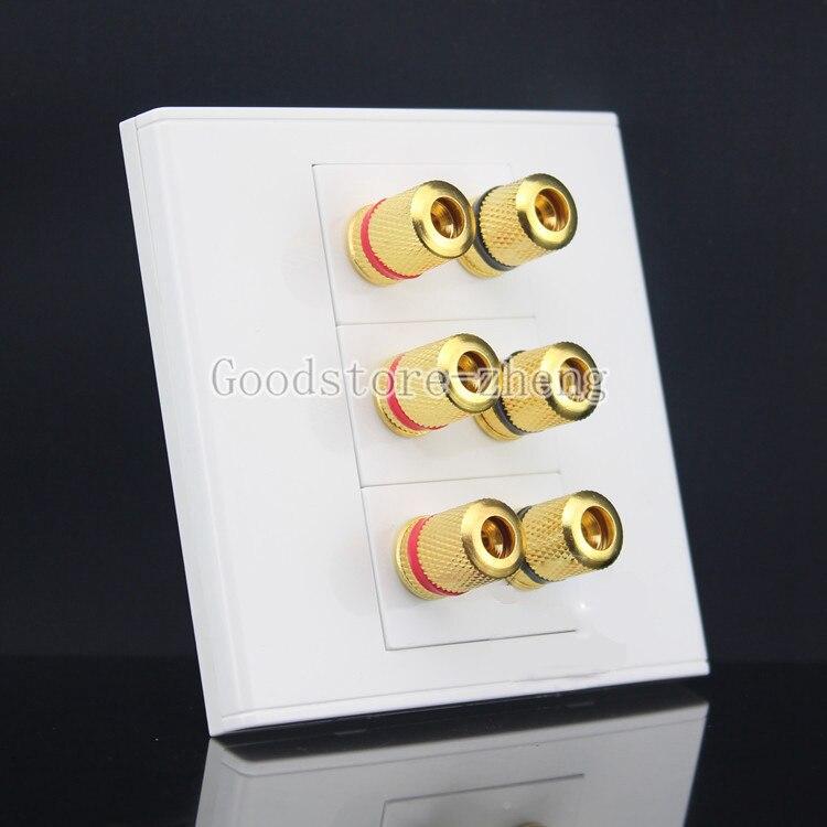 все цены на  3 Speaker 6 Binding Post Surround Home Theater Speaker Wall Face Plate Faceplate  онлайн