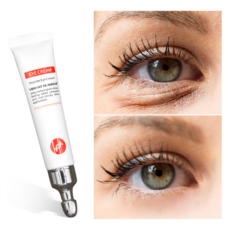 VIBRANT GLAMOUR 20g Eye Cream Peptide Collagen Anti-Wrinkle Anti-aging Remover Dark Circles Eye Care Against Puffiness