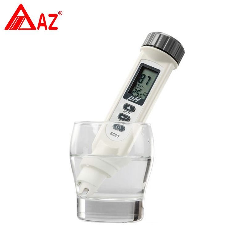 AZ8685 new Portable aquarium fruit ph meter tester pen with temperature compensation 0.2pH