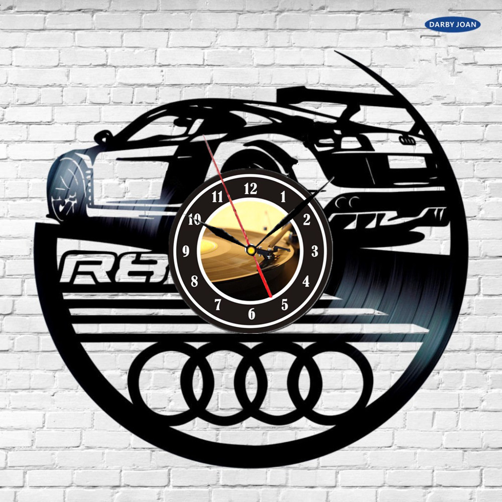 Big Clock Wall Audi Logo Vinyl Record Wall Clock Decorate Your Home With