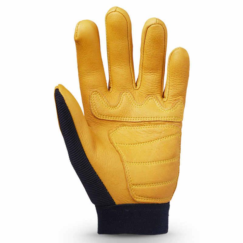 OZERO Deerskin gants de Moto en cuir véritable chasse Motocross Moto motard course automobile équitation Moto gants hommes femmes 8001