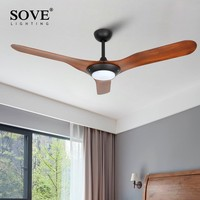 52 inch Chrome Modern LED Ceiling Fans With Lights Plastic blade Bedroom Ceiling Light Fan Lamp remote control 220 volt