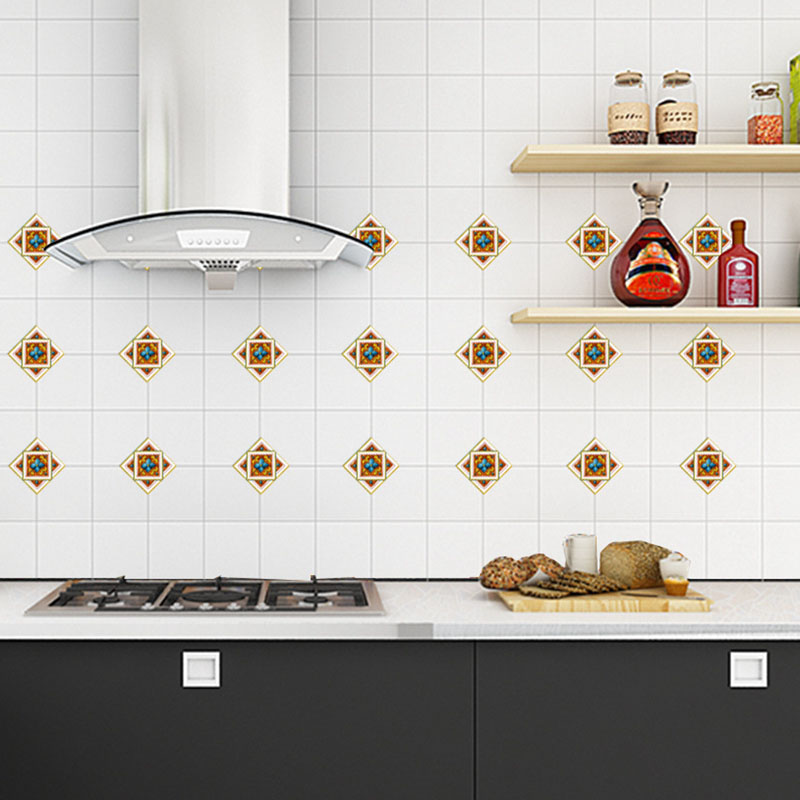 Us 2 05 30 Off 3d Tile Stickers Kitchen Wall Tile Stickers Bathroom Floor Tiles Stickers 8 8cm 10pcs Set Waterproof Tile Stickers Decal Home In Wall