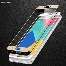 Фотография Full Cover Tempered Glass For Samsung Galaxy S7 S6 Note 4 5 A3 A5 A7 J3 J5 J7 2016 A5 J5 2017 Glass Screen Protector Foil Film