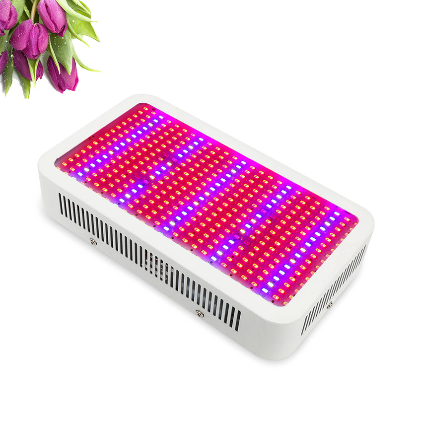 400W LED Grow Lights Full Spectrum LED For Indoor Plants Flowering Growing qkwin cob 400w led grow light full spectrum 2x200w led grow lights for indoor plants flowering and growing