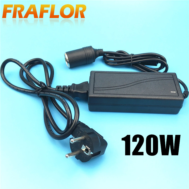 120w ac 100 240v 220v to 12v power adapter for car automotive household car socket converter. Black Bedroom Furniture Sets. Home Design Ideas
