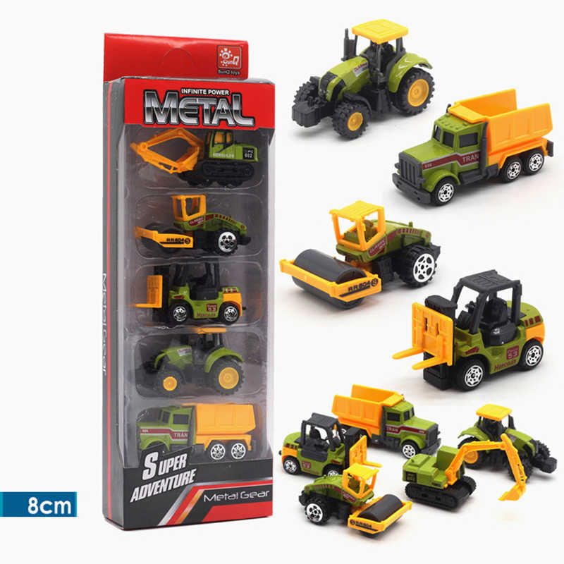 tractors farm machinery 1/64 farm toys diecast 1:64 simulated car educational toys for children green Tractor Forklift boys toys