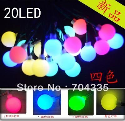 2PCS/lots,solar Led string light, solar Garden Light,Christmas light +20 RGB LED Bulbs+For ...