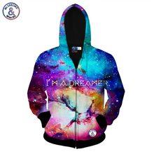 Mr.1991inc ich bin ein träumer raum galaxy reißverschluss jacke für männer/frauen 3d sweatshirt herbst hoody mit kapuze hoodies asien größe s-xxl