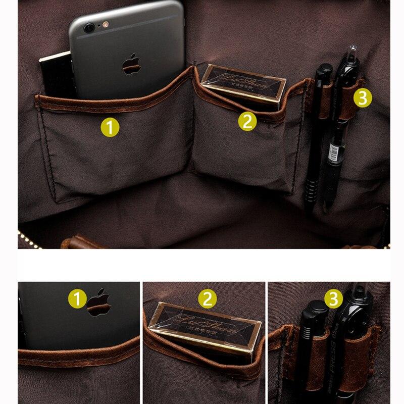 e5a0c09e1267 WESTAL Men's Briefcase Work/office Bags for Men Genuine Leather Messenger  Laptop Bag Leather Business