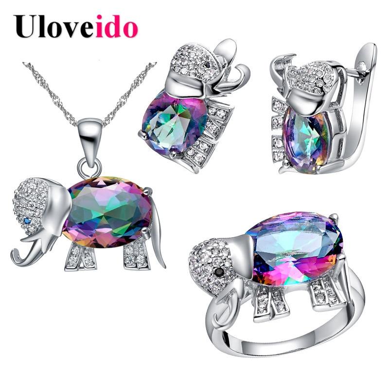 Uloveido Cute Elephant Baby and Kids Jewelry