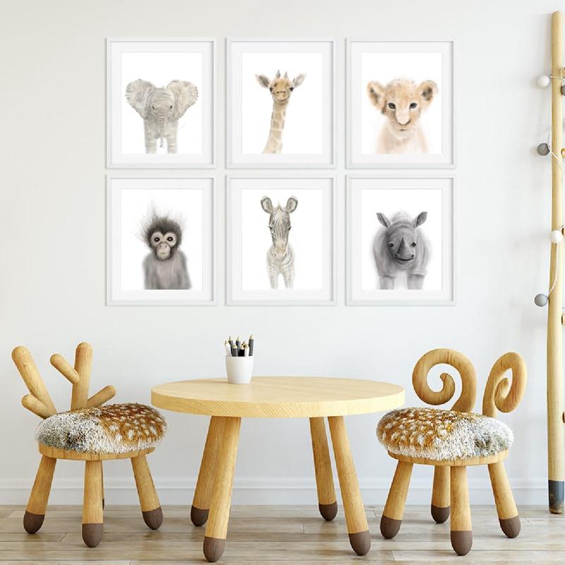 Animal Canvas Prints Baby Room Decor
