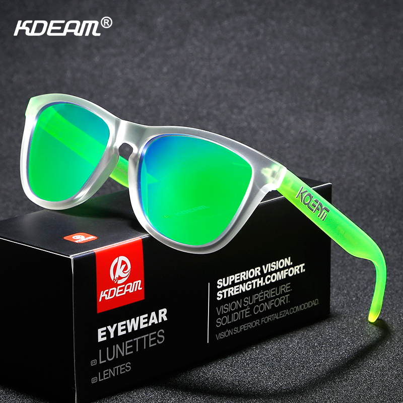 KDEAM Trend-setting TR90 Men Sunglasses Polarized Wide-range Colors Sun Glasses Sport Luxury Unisex Frame All Fit Size Shades