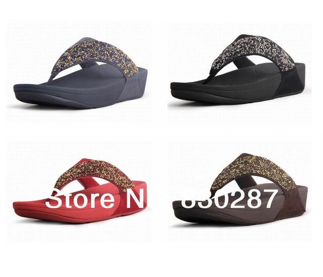 6c7add8af52f21 wholesale rock chic sandals brand womens flip flops wedges platform diamond  slides black