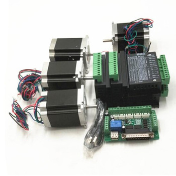 CNC Router Kit 3-Axis 3 pcs TB6600 4A stepper motor driver + Nema23 motor 57HS5630A4+ 5 axis interface board+ power supply