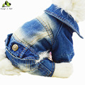 Cowboy Jean Dog Clothes All Seasons Clothing For Dogs Pet Clothing Solid Coat Jacket Cat Warm Coats Top Quality Free Shipping