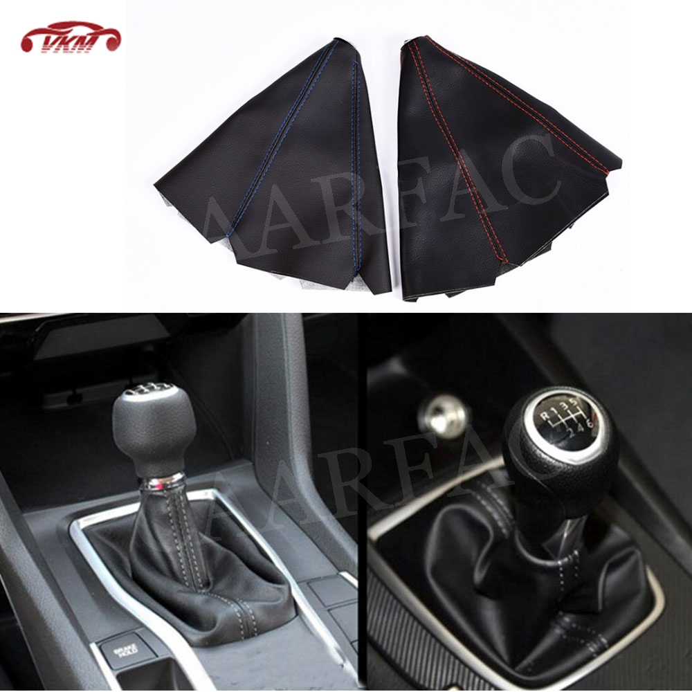 Gear Shifter Shift Collars Stitch Gear Shift Boot Cover Dust Cap Gaiter Universal Car MT/AT(China)